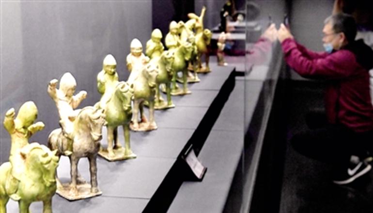 百余件汉唐乐舞文物在郑州展出 见证中外文化交流